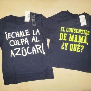 2 Spanish expressions kid's T-shirts